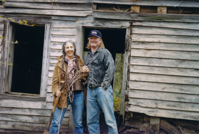 Steve and I visited the land in the mid-'90s. The house was still standing, but it didn't have any windows or doors. Photo by Sandra Ballard.
