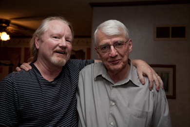 Steve Giles (my husband, a Kentuckian by birth) and Gurney Norman in 2010. Photo by Pat Arnow