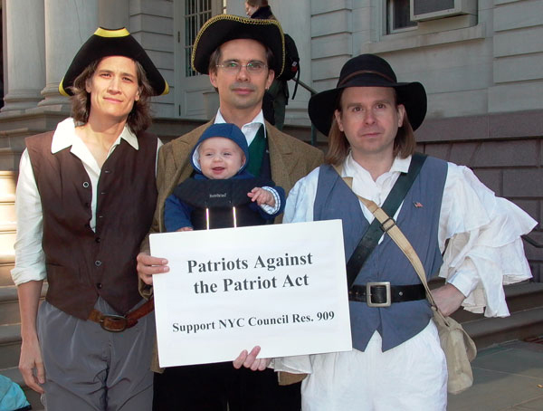 Patriots Against the Patriot Act. Photo by Pat Arnow