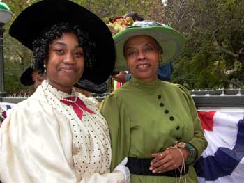 Transit employees dressed in period costumes for the subway centennial.  Photo by Pat Arnow