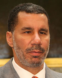 Gov. David Paterson on a visit to New York City. (Arnow photo)