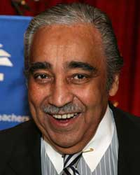 Congressman Charles Rangel. representing Harlem and chair of the Appropriations Committee. I've taken his picture many times, and he's always got that confident smile, the twinkle in the eye, and he's also the best-dressed person I take pictures of. (Arnow photo)