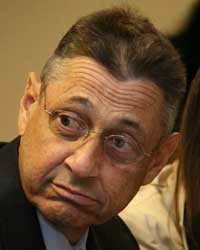 New York State Assembly Speeaker Sheldon Silver. He represents my neighborhood, the Lower East Side, but he's also the guy who you have to persuade if you want to get anything done in the state. (Arnow photo)