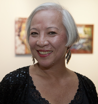 Art teacher and painter Pearl Lau. Photo by Pat Arnow