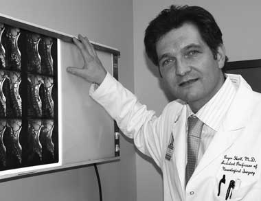 Neurosurgeon Dr. Roger Hartl. Photo by Pat Arnow