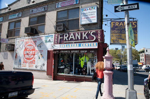 Frank's Sport Shop, Tremont and Park Ave., Bronx. Photo by Pat Arnow.