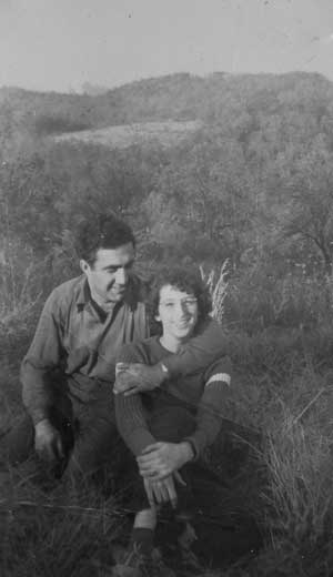 Edna and Bob Arnow (a.k.a. Mom and Dad) Honeymoon at Uncle Harold and Aunt Harriette Arnow's mountain farm in Keno, Ky., 1940.