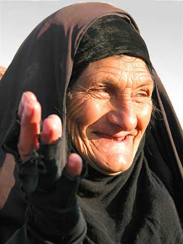 Woman in Iraq, February 2003, photo by Terry  J. Allen